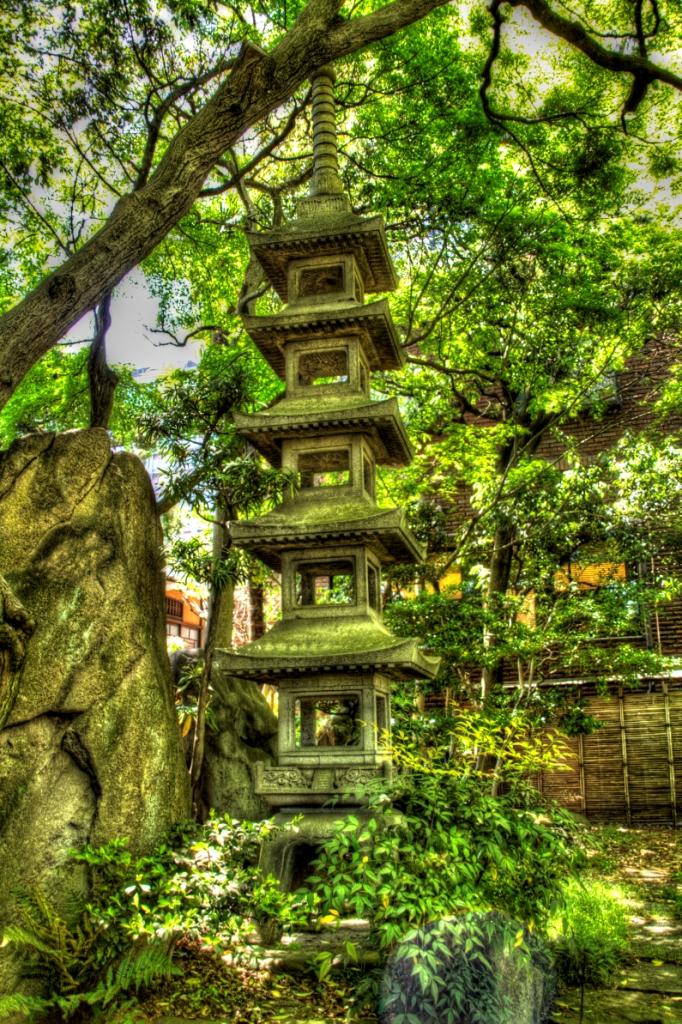 Pagoda in garden